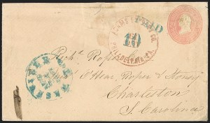 Sale Number 1225, Lot Number 40, Suspension of Mails, Adams ExpressAdams Ex. Co. Philadelphia Pa. Aug. 3 (1861), Adams Ex. Co. Philadelphia Pa. Aug. 3 (1861)