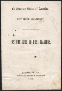 Sale Number 1225, Lot Number 43, Autographs and EphemeraConfederate Postmaster Manuals, Confederate Postmaster Manuals