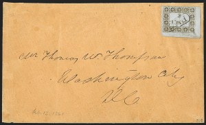 Sale Number 1225, Lot Number 55, Postmasters' Provisionals -- U.S. 3c RatesMadison Court House Fla., 3c Gold on Bluish (3AX1), Madison Court House Fla., 3c Gold on Bluish (3AX1)