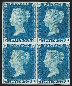 Sale Number 1226, Lot Number 1019, Great Britain - Prestamp thru 1840 Penny Black and 2p BlueGREAT BRITAIN, 1840, 2p Blue (2; SG Specialised DS9), GREAT BRITAIN, 1840, 2p Blue (2; SG Specialised DS9)