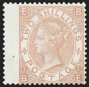 Sale Number 1226, Lot Number 1031, Great Britain - Queen VictoriaGREAT BRITAIN, 1880, 2sh Pale Brown (56; SG 121), GREAT BRITAIN, 1880, 2sh Pale Brown (56; SG 121)