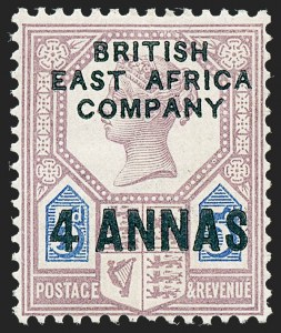 Sale Number 1226, Lot Number 1095, Bermuda thru British GuianaBRITISH EAST AFRICA, 1890, -1/2a on 1p to 4a on 5p First Issue Surcharges (1-3; SG 1-3), BRITISH EAST AFRICA, 1890, -1/2a on 1p to 4a on 5p First Issue Surcharges (1-3; SG 1-3)