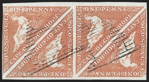 Sale Number 1226, Lot Number 1172, Cape of Good Hope thru CyprusCAPE OF GOOD HOPE, 1853, 1p Brick Red on Bluish Paper (1; SG 3), CAPE OF GOOD HOPE, 1853, 1p Brick Red on Bluish Paper (1; SG 3)