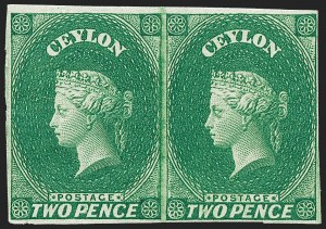 Sale Number 1226, Lot Number 1176, Cape of Good Hope thru CyprusCEYLON, 1857, 2p Deep Green (4; SG 3), CEYLON, 1857, 2p Deep Green (4; SG 3)