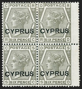 Sale Number 1226, Lot Number 1182, Cape of Good Hope thru CyprusCYPRUS, 1880, 6p Olive Gray (5; SG 5), CYPRUS, 1880, 6p Olive Gray (5; SG 5)