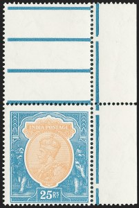 Sale Number 1226, Lot Number 1229, IndiaINDIA, 1928, 25r Blue & Ocher (125; SG 219), INDIA, 1928, 25r Blue & Ocher (125; SG 219)
