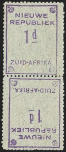 Sale Number 1226, Lot Number 1277, Nevis thru North BorneoNEW REPUBLIC, 1887, 1p Violet on Gray, Tete-Beche Pair (59d; SG 72b), NEW REPUBLIC, 1887, 1p Violet on Gray, Tete-Beche Pair (59d; SG 72b)