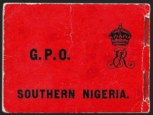 Sale Number 1226, Lot Number 1309, Solomon Islands thru SudanSOUTHERN NIGERIA, 1906, 2sh1p Booklet of Four Panes of 1p, Chalky Paper (SG SB2a), SOUTHERN NIGERIA, 1906, 2sh1p Booklet of Four Panes of 1p, Chalky Paper (SG SB2a)