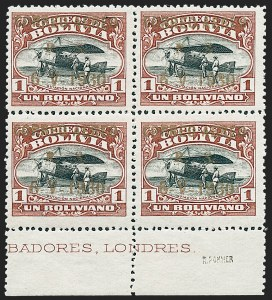 Sale Number 1226, Lot Number 1427, Bolivia thru ChileBOLIVIA, 1930, 1b Red Brown & Black Zeppelin (C18), BOLIVIA, 1930, 1b Red Brown & Black Zeppelin (C18)