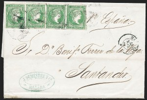 Sale Number 1226, Lot Number 1471, China, People's Republic thru Danish West IndiesCUBA, 1856, -1/2r Yellow Green (9), CUBA, 1856, -1/2r Yellow Green (9)