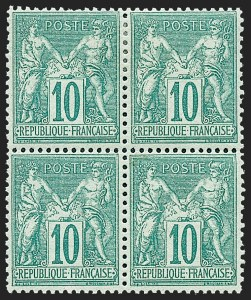Sale Number 1226, Lot Number 1559, France - 1876 Sage thru 1929FRANCE, 1876, 10c Green on Greenish, Type II (79; Yvert 76), FRANCE, 1876, 10c Green on Greenish, Type II (79; Yvert 76)
