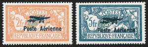 Sale Number 1226, Lot Number 1568, France - Air Post and Back-of-BookFRANCE, 1927, 2fr-5fr Air Post (C1-C2; Yvert PA1-PA2), FRANCE, 1927, 2fr-5fr Air Post (C1-C2; Yvert PA1-PA2)
