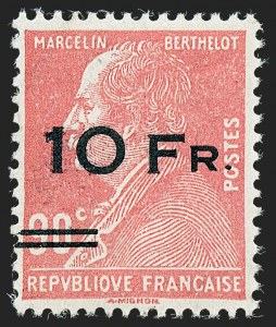 Sale Number 1226, Lot Number 1569, France - Air Post and Back-of-BookFRANCE, 1928, 10fr on 90c Ile de France, Air Post (C3; Yvert PA3), FRANCE, 1928, 10fr on 90c Ile de France, Air Post (C3; Yvert PA3)