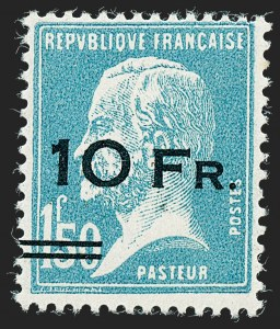 "Sale Number 1226, Lot Number 1571, France - Air Post and Back-of-BookFRANCE, 1928, 10fr on 1.50fr, ""Ile de France"" Air Post (C4; Yvert PA4), FRANCE, 1928, 10fr on 1.50fr, ""Ile de France"" Air Post (C4; Yvert PA4)"
