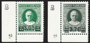 Sale Number 1226, Lot Number 1647, Switzerland thru Vatican CityVATICAN CITY, 1934, 40c on 80c-3.70l on 10l Overprints (35-40; Sassone A35-A40), VATICAN CITY, 1934, 40c on 80c-3.70l on 10l Overprints (35-40; Sassone A35-A40)