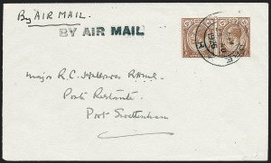 Sale Number 1226, Lot Number 1657, Worldwide Flight Covers - AlphabeticallySTRAITS SETTLEMENTS, 1926, August 23, Experimental Flight, Singapore-Kuala Lumpur-Port Swettenham (AAMC 1), STRAITS SETTLEMENTS, 1926, August 23, Experimental Flight, Singapore-Kuala Lumpur-Port Swettenham (AAMC 1)