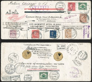 Sale Number 1226, Lot Number 1658, Worldwide Flight Covers - Alphabetically1926 Five-Country Airmail Cover, 1926 Five-Country Airmail Cover