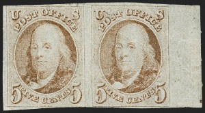 Sale Number 1227, Lot Number 2074, 5c 1847 Issue (Scott 1)5c Red Brown (1), 5c Red Brown (1)