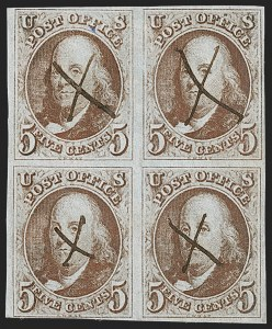 Sale Number 1227, Lot Number 2076, 5c 1847 Issue (Scott 1)5c Red Brown (1), 5c Red Brown (1)