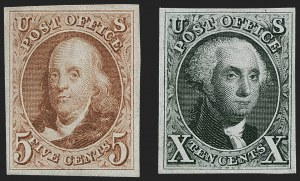 Sale Number 1227, Lot Number 2136, 1875 Reproduction of 1847 Issue (Scott 3-4)5c Red Brown, 10c Black Reproductions (3, 4), 5c Red Brown, 10c Black Reproductions (3, 4)