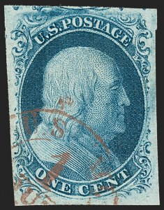 Sale Number 1227, Lot Number 2146, 1c 1851-56 Issue (Scott 5A-9)1c Blue, Ty. II (7), 1c Blue, Ty. II (7)