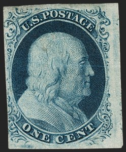 Sale Number 1227, Lot Number 2151, 1c 1851-56 Issue (Scott 5A-9)1c Blue, Ty. III (8), 1c Blue, Ty. III (8)
