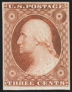Sale Number 1227, Lot Number 2171, 3c-5c 1851-56 Issue (Scott 10-12)3c Orange Brown, Ty. II (10A), 3c Orange Brown, Ty. II (10A)