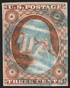 Sale Number 1227, Lot Number 2174, 3c-5c 1851-56 Issue (Scott 10-12)3c Orange Brown, Ty. II (10A), 3c Orange Brown, Ty. II (10A)