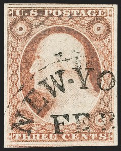 Sale Number 1227, Lot Number 2180, 3c-5c 1851-56 Issue (Scott 10-12)3c Dull Red, Ty. II (11A), 3c Dull Red, Ty. II (11A)