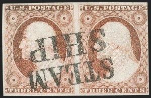 Sale Number 1227, Lot Number 2184, 3c-5c 1851-56 Issue (Scott 10-12)3c Dull Red, Ty. II (11A), 3c Dull Red, Ty. II (11A)