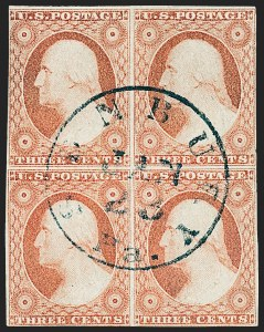 Sale Number 1227, Lot Number 2186, 3c-5c 1851-56 Issue (Scott 10-12)3c Dull Red, Ty. II (11A), 3c Dull Red, Ty. II (11A)