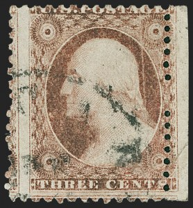 Sale Number 1227, Lot Number 2187, 3c-5c 1851-56 Issue (Scott 10-12)3c Dull Red, Ty. I, Chicago Perf 12-1/2 (11 var), 3c Dull Red, Ty. I, Chicago Perf 12-1/2 (11 var)