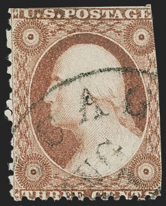 Sale Number 1227, Lot Number 2188, 3c-5c 1851-56 Issue (Scott 10-12)3c Dull Red, Ty. I, Chicago Perf 12-1/2 (11 var), 3c Dull Red, Ty. I, Chicago Perf 12-1/2 (11 var)