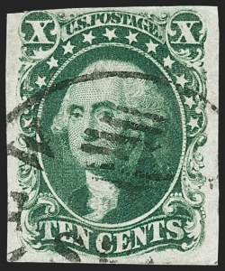 Sale Number 1227, Lot Number 2212, 10c-12c 1851-56 Issue (Scott 13-17)10c Green, Ty. IV (16), 10c Green, Ty. IV (16)