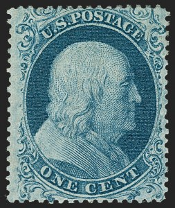 Sale Number 1227, Lot Number 2223, 1c 1857-60 Issue (Scott 18-24)1c Blue, Ty. I (18), 1c Blue, Ty. I (18)