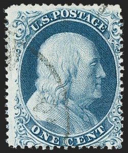 Sale Number 1227, Lot Number 2225, 1c 1857-60 Issue (Scott 18-24)1c Blue, Ty. Ia (19), 1c Blue, Ty. Ia (19)