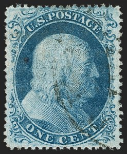 Sale Number 1227, Lot Number 2230, 1c 1857-60 Issue (Scott 18-24)1c Blue, Ty. II (20), 1c Blue, Ty. II (20)