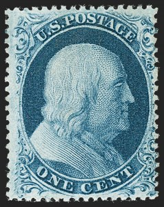 Sale Number 1227, Lot Number 2231, 1c 1857-60 Issue (Scott 18-24)1c Blue, Ty. III (21), 1c Blue, Ty. III (21)