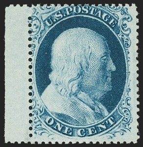 Sale Number 1227, Lot Number 2232, 1c 1857-60 Issue (Scott 18-24)1c Blue, Ty. III (21), 1c Blue, Ty. III (21)
