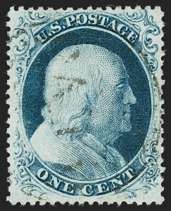 Sale Number 1227, Lot Number 2233, 1c 1857-60 Issue (Scott 18-24)1c Blue, Ty. III (21), 1c Blue, Ty. III (21)