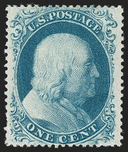 Sale Number 1227, Lot Number 2235, 1c 1857-60 Issue (Scott 18-24)1c Blue, Ty. IIIa (22), 1c Blue, Ty. IIIa (22)