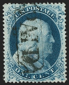 Sale Number 1227, Lot Number 2236, 1c 1857-60 Issue (Scott 18-24)1c Blue, Ty. IIIa (22), 1c Blue, Ty. IIIa (22)