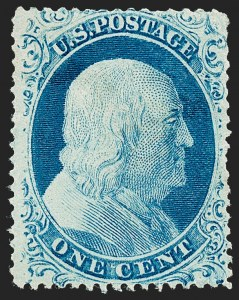 Sale Number 1227, Lot Number 2238, 1c 1857-60 Issue (Scott 18-24)1c Blue, Ty. IV (23), 1c Blue, Ty. IV (23)