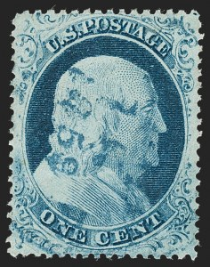 Sale Number 1227, Lot Number 2239, 1c 1857-60 Issue (Scott 18-24)1c Blue, Ty. IV (23), 1c Blue, Ty. IV (23)