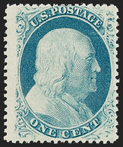 Sale Number 1227, Lot Number 2241, 1c 1857-60 Issue (Scott 18-24)1c Blue, Ty. Va (24 var), 1c Blue, Ty. Va (24 var)