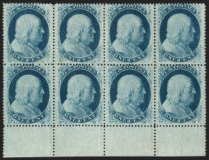 Sale Number 1227, Lot Number 2242, 1c 1857-60 Issue (Scott 18-24)1c Blue, Ty. V (24), 1c Blue, Ty. V (24)