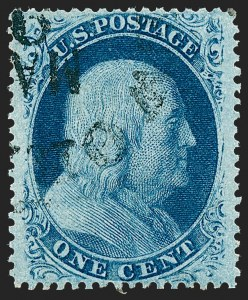 Sale Number 1227, Lot Number 2244, 1c 1857-60 Issue (Scott 18-24)1c Blue, Ty. V (24), 1c Blue, Ty. V (24)
