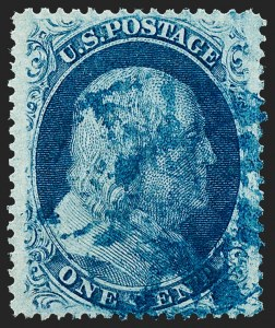 Sale Number 1227, Lot Number 2245, 1c 1857-60 Issue (Scott 18-24)1c Blue, Ty. Va (24), 1c Blue, Ty. Va (24)