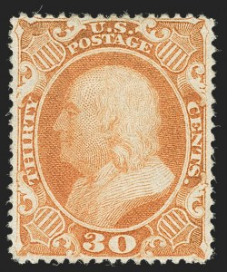 Sale Number 1227, Lot Number 2278, 12c-90c 1857-60 Issue (Scott 36-39)30c Orange (38), 30c Orange (38)
