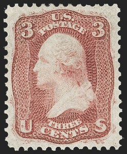 Sale Number 1227, Lot Number 2305, 1861-66 Issue (Scott 56-78)3c Brown Rose, First Design (56), 3c Brown Rose, First Design (56)